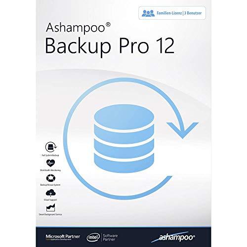 Ashampoo Backup Pro 12 Vollversion, 3 Lizenzen Windows Backup-Software
