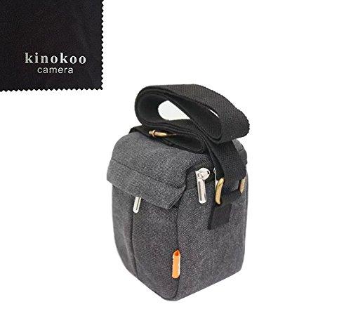 kinokoo bolsa de la cámara bolsa de lona Compatible para todas las marcas de cámara sin espejo, cámaras réflex digitales de diferentes