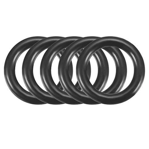 sourcingmap 100 Stück Schwarz 9mm x 1.5mm Nitrilkautschuk O Ring NBR Dichtung Dichtungsringe de