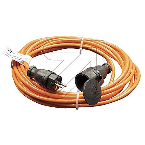 Colours-Manufaktur Verlängerungskabel für den Außenbereich/Innenbereich * Verschiedene Modelle, Farben und Längen wählbar * (orange Schuko (IP 44 - Außen), 10 m)