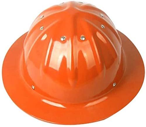 WEN Bauarbeiterhelm mit verstellbarem Helm, Bauhelm Aluminium Hard hat,Orange Hardhats (Color : Orange)