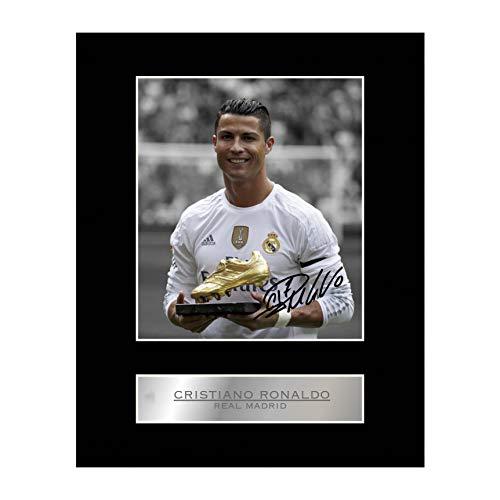 Signiertes Foto von Cristiano Ronaldo von Real Madrid mit Passepartout