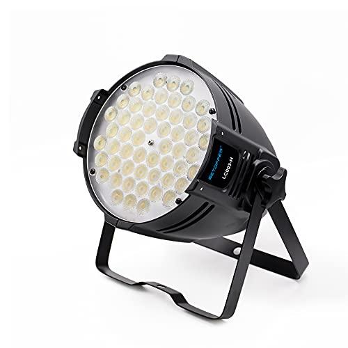 BETOPPER 54 LED Par Light Super Bright DMX-512 DJ Stage Light Blanco / Off White Iluminación 5000 lúmenes para teatro, estudio, estudio fotográfico, decoración del hogar, fiesta, iglesia, boda, etc.