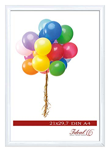 Ideal Trend Home Lifestyle Kunststoff Bilderrahmen 10x15 cm bis 50x70 cm Foto Rahmen: Farbe: Weiß | Format: 50x70