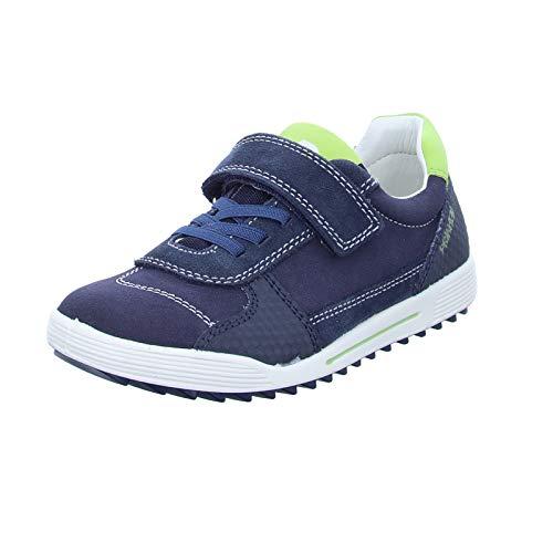 PRIMIGI Kinder Halbschuh 5377811 mit Klettverschluss und Leder Innensohle Blau (S.Scamos/Scamos/Blue) Größe 33 EU