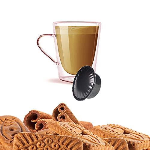 KICKKICK 10 Capsule Biscotto e Cannella Biscottino Compatibili A Modo Mio - Bevanda Solubile in Cialde