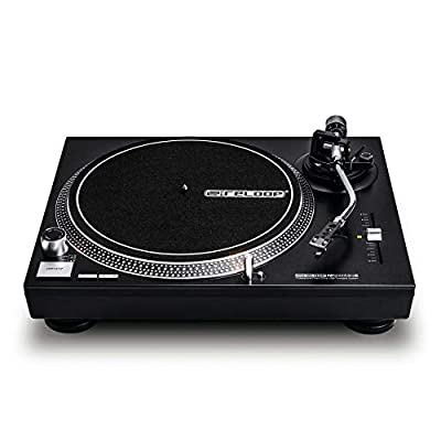 Reloop RP-2000 USB MK2 Quartz-controlled direct-drive DJ turntable with USB output and Reloop OM Black cartridge and stylus