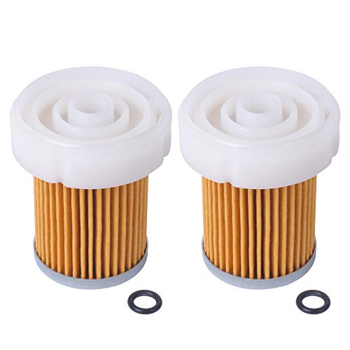 Replacement 6A320-59930 Fuel Filter with O ring for Kubota B3030 B7400 L3800DT L3800F Pack of 2