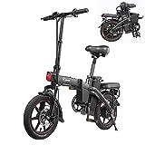 E-Bike Klappbares- 14' elektrofahrräder, 25 km/h 350W Motor 48V 7,5Ah Batterie Trip 35-50KM Drahtloser Schlüsselstart mit LCD-Anzeige