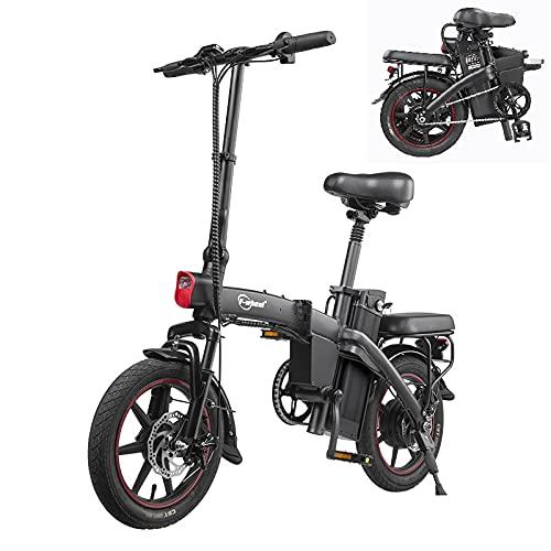 """E-Bike Klappbares- 14\"""" elektrofahrräder, 25 km/h 350W Motor 48V 7,5Ah Batterie Trip 35-50KM Drahtloser Schlüsselstart mit LCD-Anzeige"""