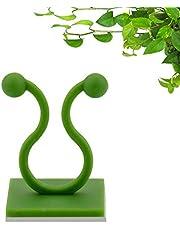 POOPHUNS 100pcs Clips de Pared para Escalar Plantas, Clips de Soporte de Plantas, para Interiores Clips Adhesivos Vides de Pared Gancho Adhesivo para Escalar Vides