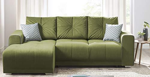 Canapé d'angle 4 places Scandinave Vert