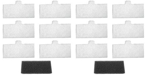 Remstar Pro/Plus UF+ CPAP Filters KIT (12 Ultrafine, 2 Foam Filters)