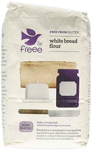 Doves Farm Gluten Free White Bread Flour 1 kg (Pack of 5)