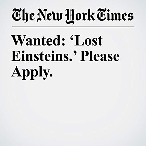 Wanted: 'Lost Einsteins.' Please Apply. copertina
