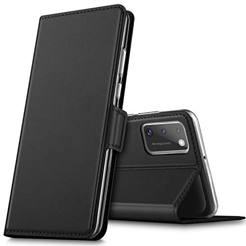 GEEMAI für Samsung Galaxy A41 Hülle, handyhüllen Flip Hülle Wallet Stylish mit Standfunktion und Magnetisch PU Tasche Schutzhülle passt für Samsung Galaxy A41 Smartphone, Schwarz