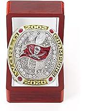 Tampa Bay Kampioenschap Ring Su'Per 'Bo'Wl Kampioenschap Ring Mannelijke Ringen Collectie Display En Aandenken Verjaardagsgiften Voor Vader, Jongen Vriend Maat # 9-14