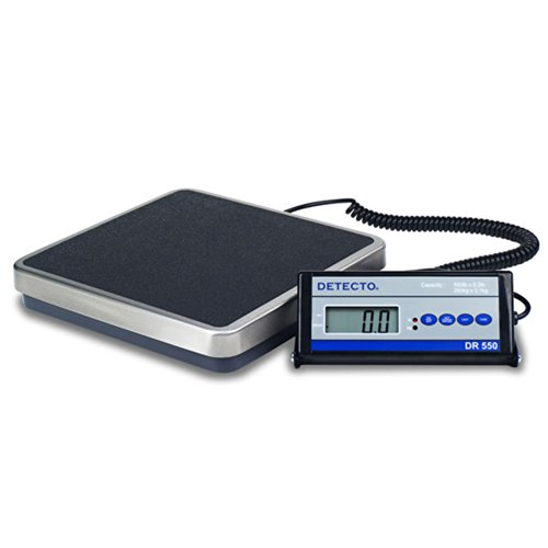 Detecto Digital Physician Scale 550 x 0.2lb / 250 x 0.1kg Portable W/Remote Display, DR550C, Lot of 1