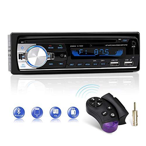 Autoradio mit Bluetooth Freisprecheinrichtung, CENXINY 1 Din Autoradio Bluetooth 5.0, USB*2/AUX/TF, FM Radio/MP3 Player mit Lenkrad-Fernbedienung (18,8 * 8 * 5cm)