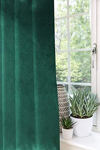 McAlister Textiles 2 alzapaños de terciopelo mate, color verde esmeralda, 2 alzapaños de cortina suaves de lujo, 2 unidades, cortinas a juego, 76 cm, juego de 2