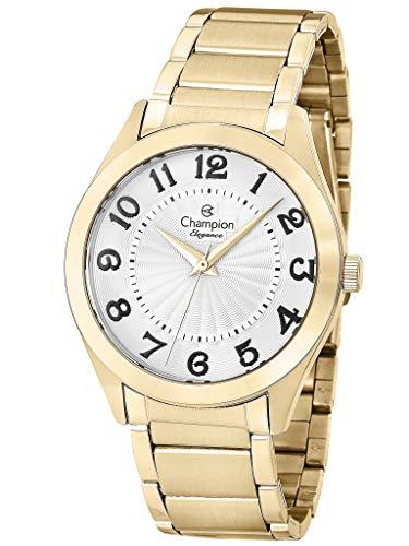 Kit, Relógio Analógico, Champion, Mais semi-jóia, Feminino, CN25029W, Dourado