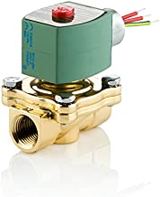 ASCO 8210G002-120/60,110/50 Brass Body Pilot Operated General Service Solenoid Valve, 1/2