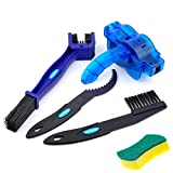 BOBILIFE Bike & Motorcycle Chain Cleaning Brush - Bicycle Gear Chain Cleaner Maintenance Tools Kit, 5 Tools (Blue with Scrubber)
