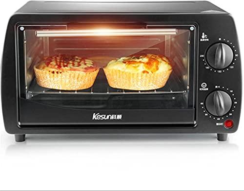 Mini horno 9L, fabricantes de pan tostadora para el hogar Hogar de la cocina Hornear Pequeño Horno eléctrico automático Freidora de aire multifunción (Color: Negro)