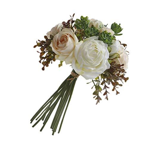 VALICLUD Bouquet da Sposa Matrimonio Artificiale Rosa Peonia Bouquet di Fiori da Sposa Damigella Donore Cerimonia di Nozze Decorazione Anniversario