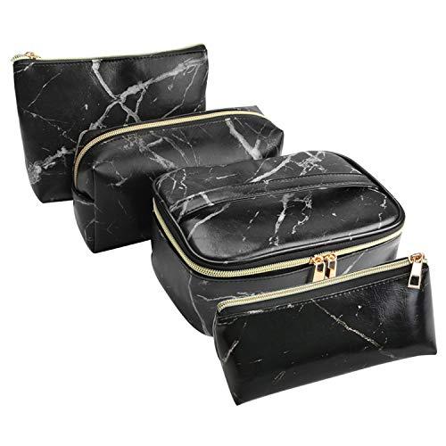 SUBANG 4 Pack Marble Makeup Bag Toiletry Bag Travel Bag Portable Cosmetic Bag Makeup Brushes Bag Waterproof Organizer Bag for Women Girls Men