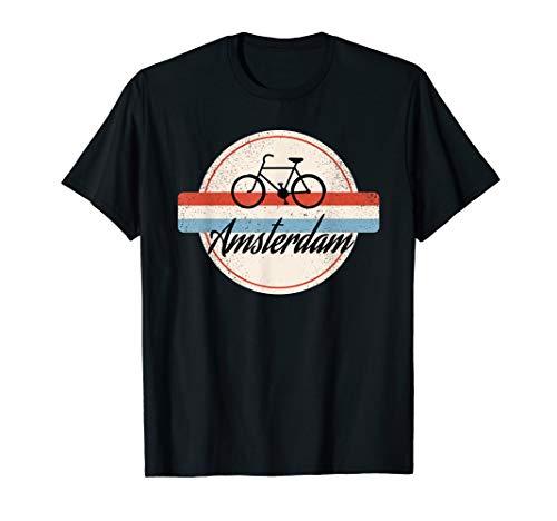 Amsterdam Retro T-Shirt Niederlande Flagge Souvenir