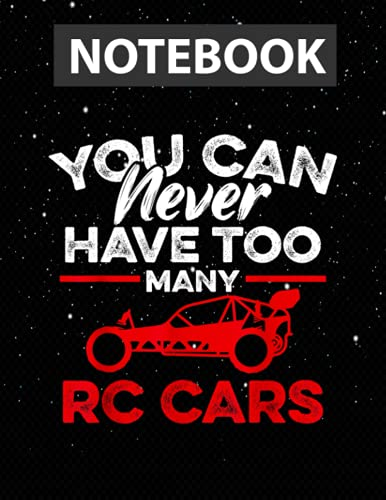 RC Car Funny Buggy Remote Control Car Driver Racing Hobby Large 8.5x11 inches / Notebook College Ruled