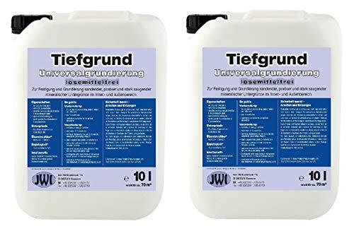 20 L Qualitäts Tiefgrund LF Lösemittelfrei Tiefengrund Universalgrundierung Grundierung gebrauchsfertig