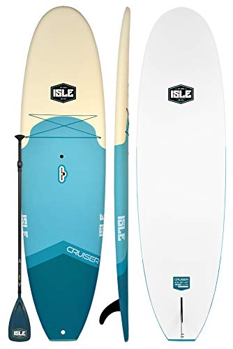 ISLE Cruiser Soft Top Stand Up Paddle Board (4.5' Thick) SUP Package |...