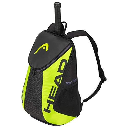 HEAD Unisex_Adult Tour Team Extreme Backpack Tennis Bag, Black/neon Yellow, standard size