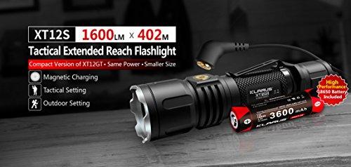 Klarus XT12S XHP-35 LED 1600 Lumen Magnetladeanschluss taktische Taschenlampe