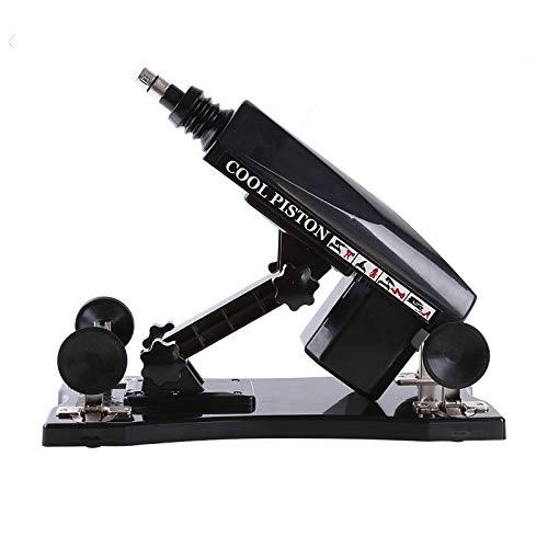 GamYzx Vibrierende Attachments Spielzeug for Frauen Frau Relax Gute Wahl automatisch versenkbare Pumpen Gun (Schwarz)