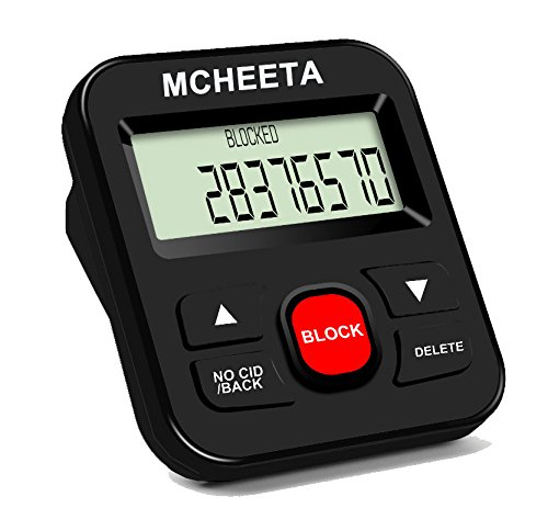 Call Blocker, MCHEETA Premium Phone Call Blocker Landline Device, Simply Block All Unwanted Calls, Robocalls, Incoming Calls and Nuisance Calls by Pressing One Button