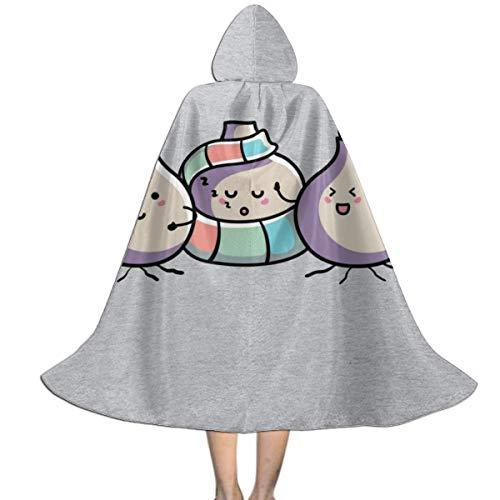 NUJSHF Lindas Bombillas de Primavera Unisex para niños, Capa con Capucha para Halloween, decoración de Fiestas, Disfraces de Cosplay