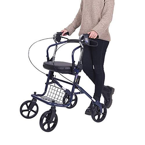 Y-L Rollators 4 Wiel Vouwen met Pedaal Plaat en Onderstoel Mand Hulp Rolling Walker voor de Ouderen