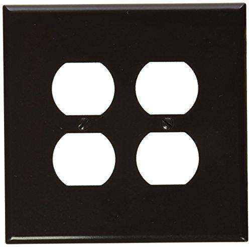 Leviton 85116 2-gang, la plaque de raccord de l'appareil recto-verso, surdimensionnés, thermodurcissables Device, Brown