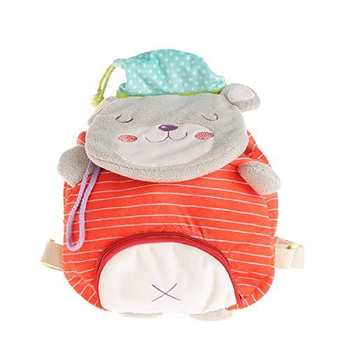 Rucksack für Kleinkinder mit Zügelgurten, 1–3 Jahre, Kindergartenrucksack (roter Bär)