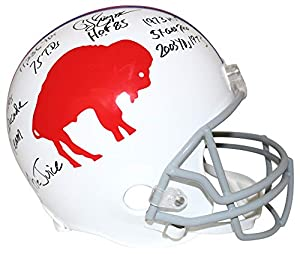 O.J. Simpson Autographed/Signed Buffalo Bills Replica Helmet 8 Insc JSA