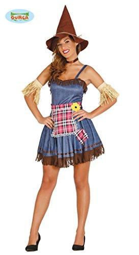 Sexy Vogelscheuche Damen Halloween Kostüm Vogelscheuchen Horror Monster Damenkostüm Halloweenkostüm Gr. M-L, Größe:M
