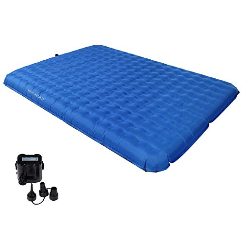 KingCamp Velocity Air Bed with Versatile Pump, Compact Air Mattress for 2 Person Backpacking, Hiking, Climbing, Or Indoor Use Support UP to 550LBS