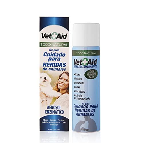 Spray cicatrizante y desinfectante para curación de heridas en perros, gatos y todo tipo de animales. Vet-Aid Spray 120ml