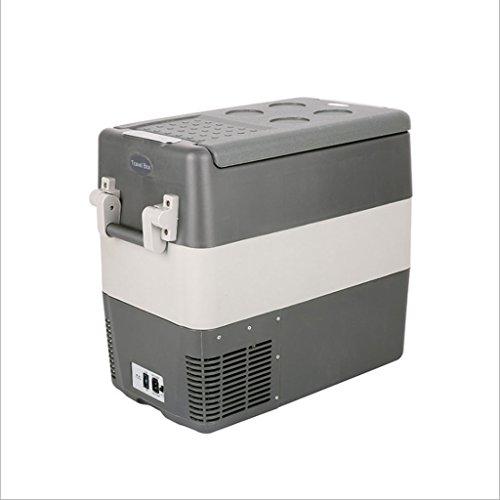 Q-HL Auto Elektrische Kühlschrank Kühlbox, 50L Auto Kühlschrank, tragbare Mini-Kühlschrank, AC und DC Hotspot-System, Thermostat, Medikamentenlager, Kosmetik-Kühlschrank