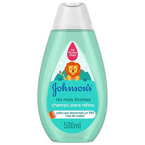Johnson's Baby Champú No Más Tirones para Niños, Deja el Cabello Suave, Liso y Fácil de Peinar - 500 ml