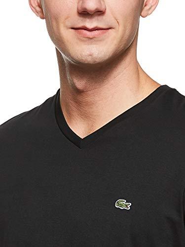 Lacoste T-Shirt Basique pour Homme Th6710, 5, Black