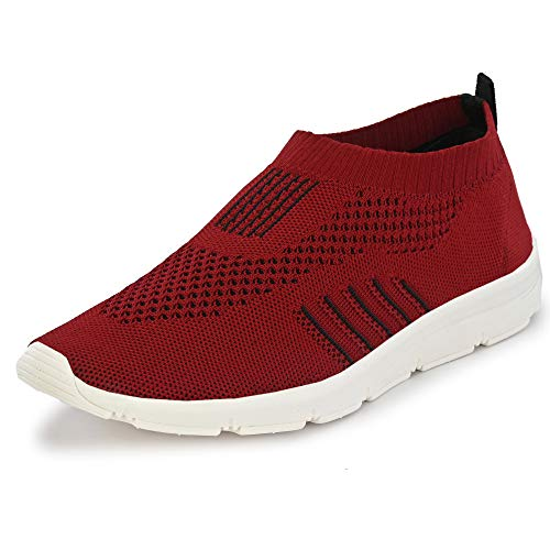 Bourge Men's Vega-4 Maroon Running Shoes-7 UK (41 EU) (8 US) (Vega-4-07)